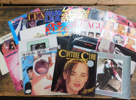 Selection of 12 inch singles, New Romantics , incl. Visage, Soft Cell, Human League etc...