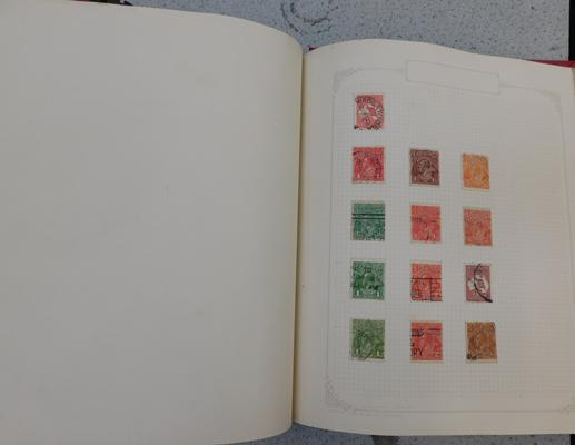 Binder containing mint & used Commonwealth stamps from Queen Victoria