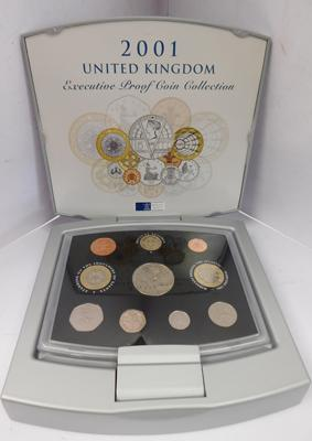 Royal Mint coin year set, Executive Proof, 2001