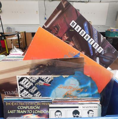 1980s music collection, records & CDs, incl. Madonna, Madness, The Police, Heaven 17, Simple Minds, ELO etc...