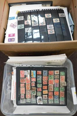 2x Cartons containing quantity of stamps