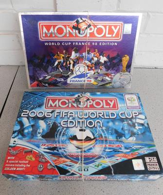 2 x Fifa World Cup Monopoly 2006, sealed inside, 98 complete