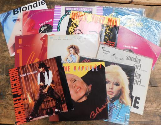 Selection of 12 inch singles, incl. Michael Jackson & Madonna etc...