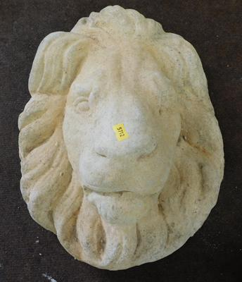 Large stone style lions head, wall mountable  mask