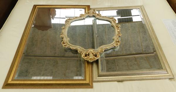3x Framed mirrors