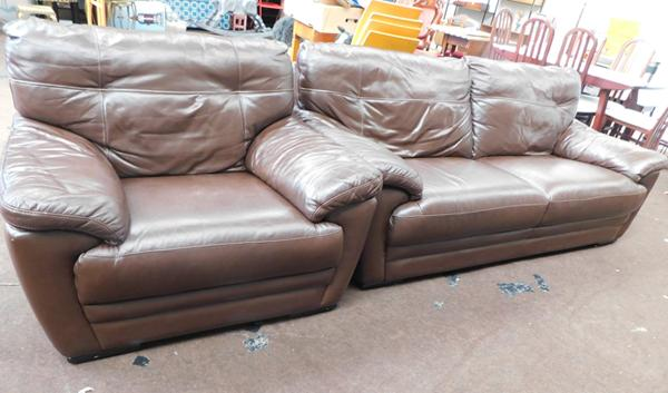 3 Seater settee & large armchair