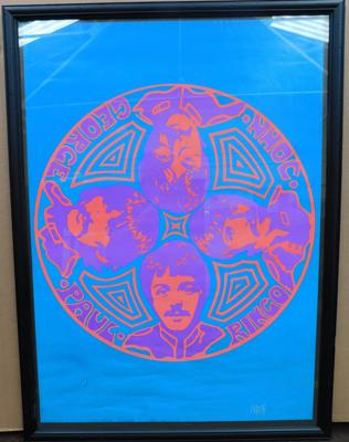 Collectable framed Beatles print
