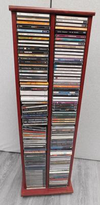 Full CD rack + CDs, mainly Rock, incl. Rolling Stones, David Gilmore