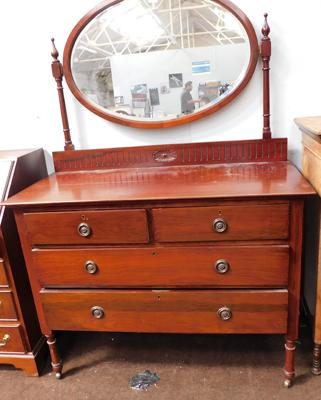 2 over 2 mirrored set of vintage drawers