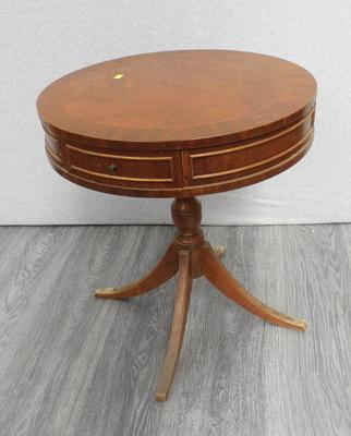 Circular occasional table with drawers