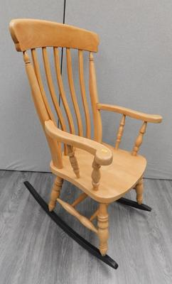 Solid beech rocking chair - W/O