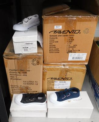 3 x boxes (36 pairs) of childrens trainers/pumps - various sizes & colours