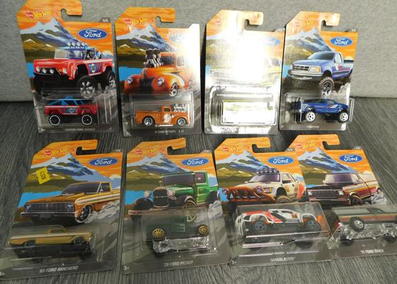 8x Hot Wheels Fords cars still in original boxes
