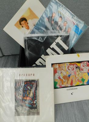 Box of mainly 1980s LPs, collectables + 12 inch singles