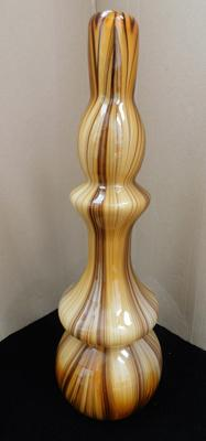"Murano style vase no damage, approx 18"" tall"