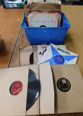 Box of mixed 78 RPM records