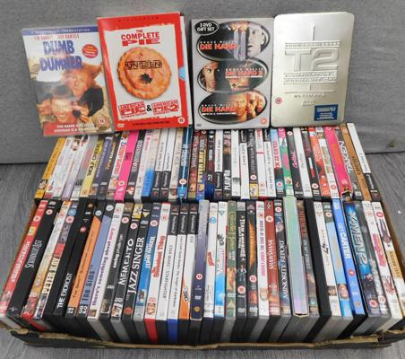 Box of 70+ DVDs & Playstation 2 games, incl. Die Hard & American Pie