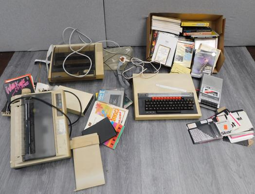 BBC microcomputer system, incl.printers, floppy disc drive, cassette player & large box of software + manuals etc...
