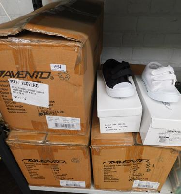 3 x boxes (31 pairs) of childrens trainers/pumps, various sizes & colours