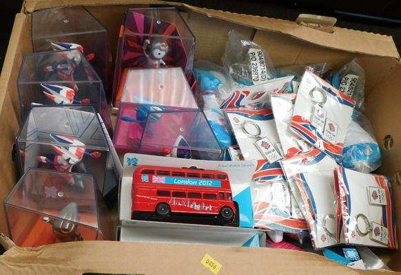 Box of new 2012 Olympic collectables