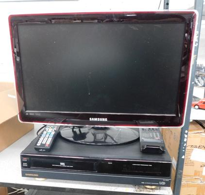 Samsung TV & video recorder w/o with remote