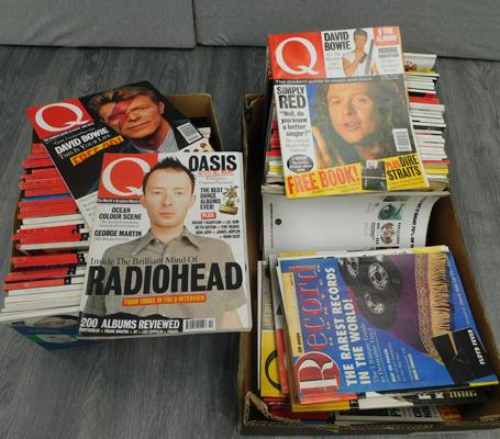 2 x boxes of Q magazines, mainly 1990s