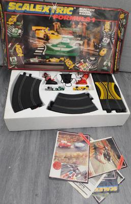 Box of Scalextric incl; cars & track etc...
