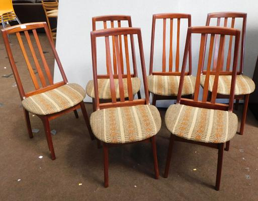 6x Mid Century dining chairs