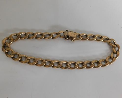 Stamped 375 gold bracelet, weight approx. 10.2 grams