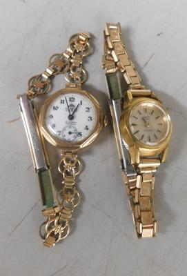Gold ladies watch & rolled gold vintage watch