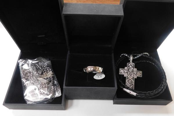 3x new boxed gents necklaces + son ring