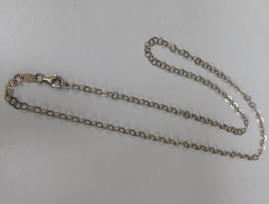 Unusual link silver chain