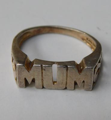 Gold on silver Mum ring