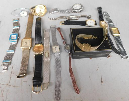 Selection of watches, incl. ladies Accurist watch - W/O