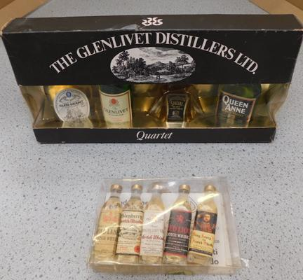 Collectable whiskey/malt miniatures
