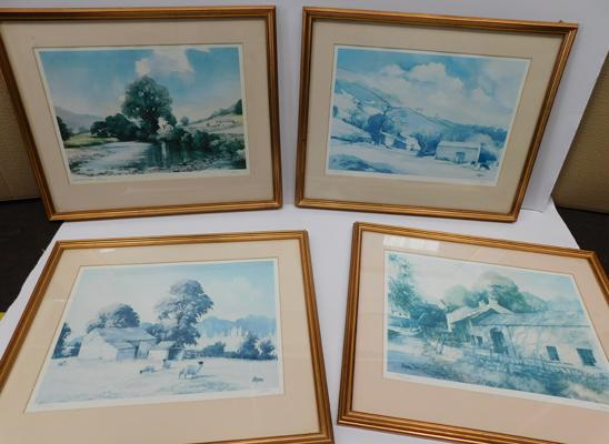 4x framed prints of local scenes signed by Terry Logan (21.5 x 17.5 in frame)