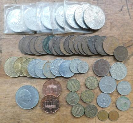 Assortment of coins
