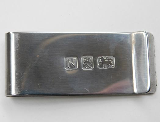 925 Silver money clip-large & heavy
