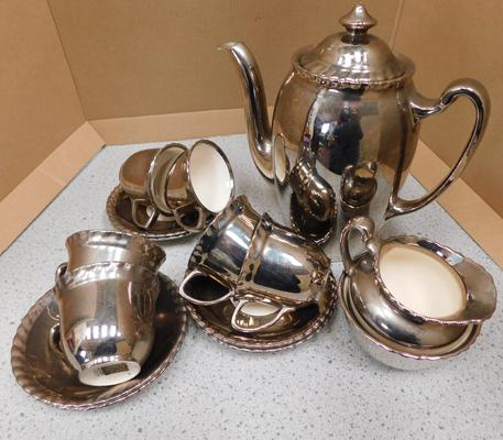 Grays pottery coffee set lustreware