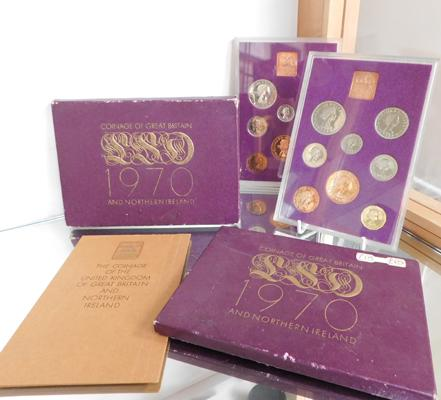 2 x 1970 Coinage of Great Britain sets