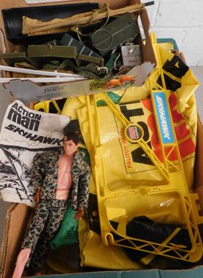 1960s Pallitoy, England, Action Man Sky Halk set  & accessories + 1960s Action Man