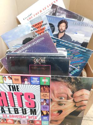 Box of approx. 60 LPs, mainly 1980s