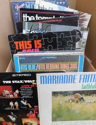 Box of approx. 60 records, mainly Soul, Jazz, Funk