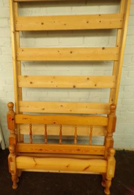 Single pine bed frame-no fixings