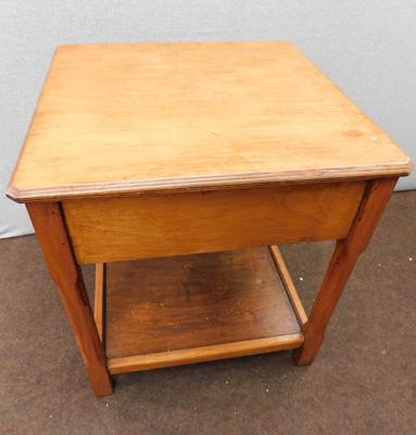 Wooden square side table approx 19x19x20""