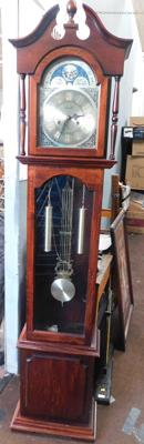 Lincoln 31 day grandfather clock with pendulum + key in W/O - westminster chimes