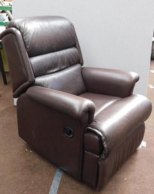 Leather Sherbourne manual reclining armchair