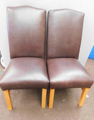 2x Tall back dining chairs