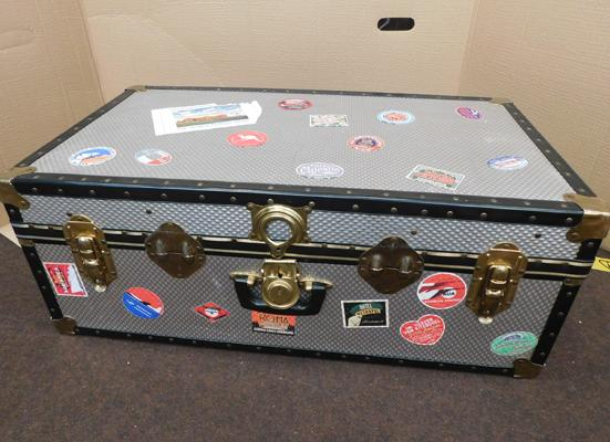Large travel trunk-good condition approx 18x32.5x12.5""