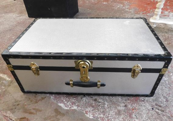 Large silver trunk approx 20x12x33""